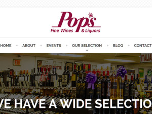 Pops Fine Wines & Liquors Website